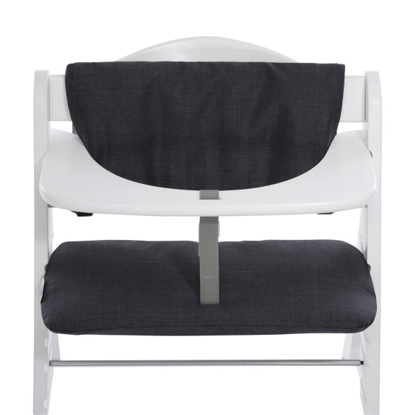 hauck Highchair Pad Deluxe Melange Charcoal