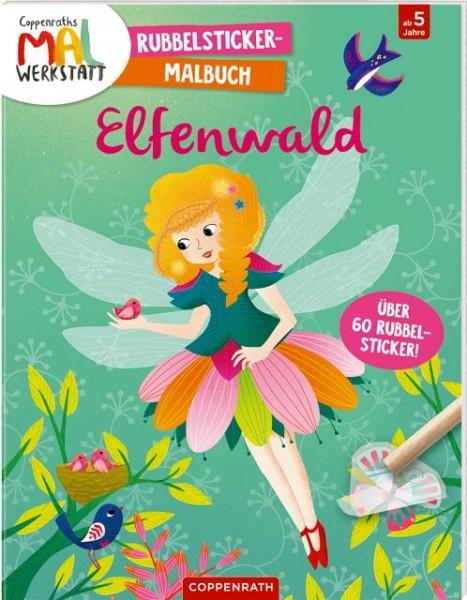 Coppenrath Rubbelsticker Malbuch Elfenwald