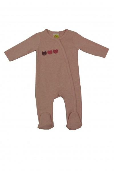 Dimotex Schlafanzug mit Fuß rosa