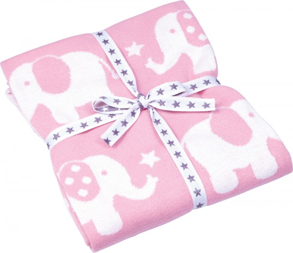 BabyGlück Strickecke Elefanten rosa