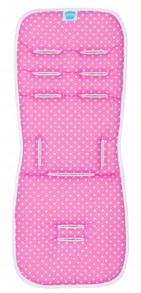 Fillikid Wendeauflage Vario Memory pink/weiß/grau