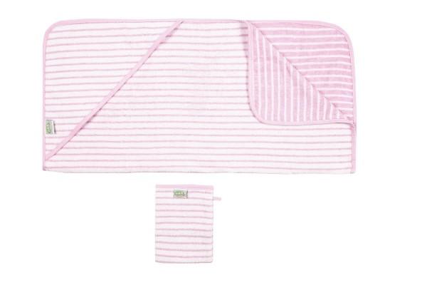 Odenwälder BabyNest Badetuch-Set rosa