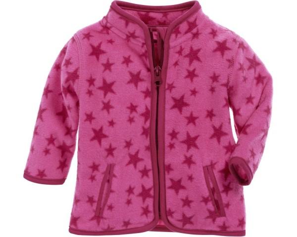 Schnizler Fleece-Jacke Sterne pink