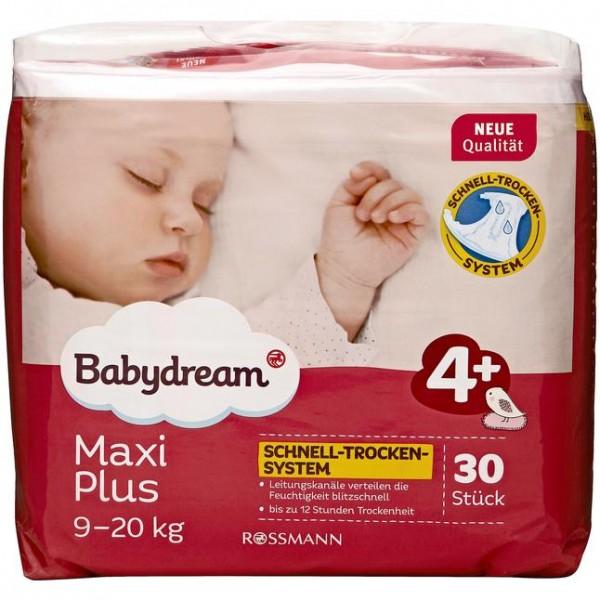 Babydream Windeln Maxi plus 30 Stück Größe 4+, 9-20 kg