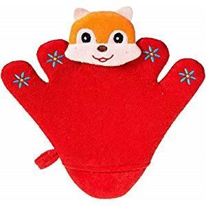 bieco Waschhandschuh/Handpuppe Eichhörnchen