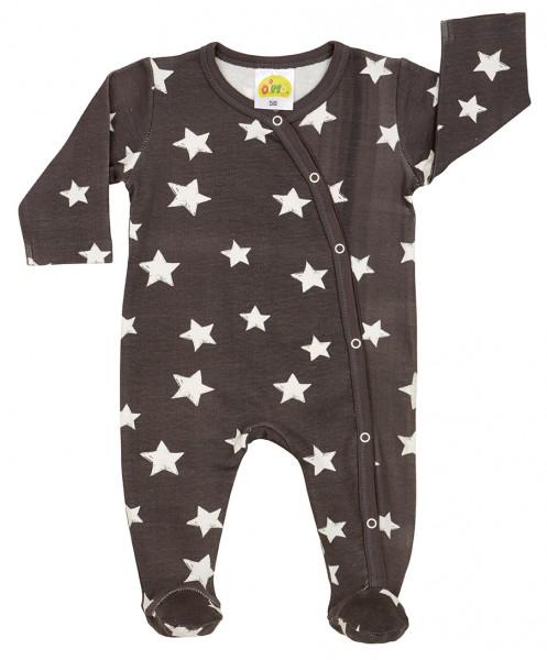 DimOrganic Schlafanzug mit Fuß Sterne