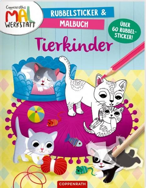Coppenrath Rubbelsticker Malbuch Tierkinder