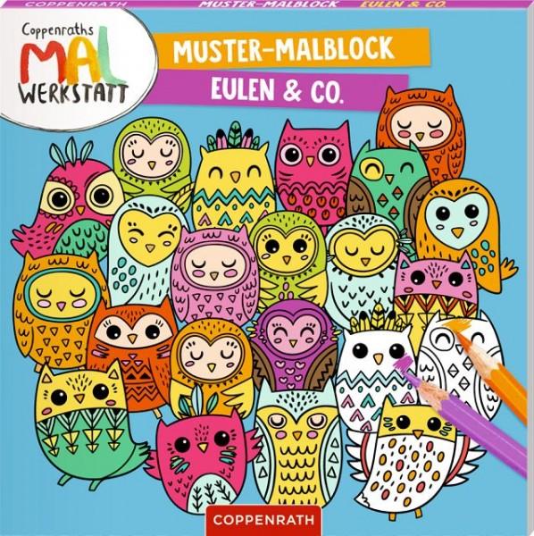 Coppenrath Muster-Malblock Eulen
