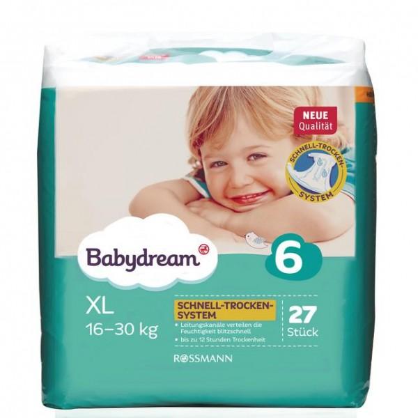 Babydream Windeln XL 27 Stück Gr. 6, 16-30 kg