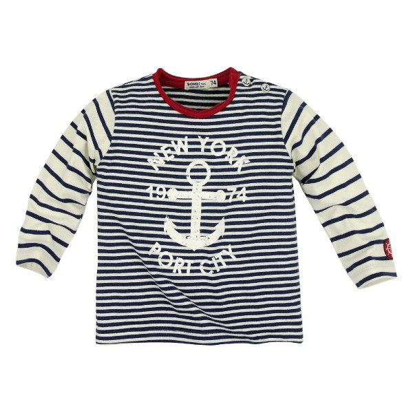 Bondi T- Shirt Streifen marine