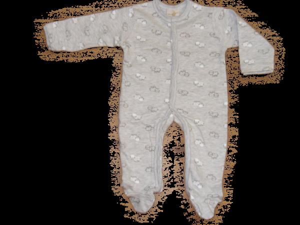 DimOrganic Schlafanzug mit Fuß Schäfchen
