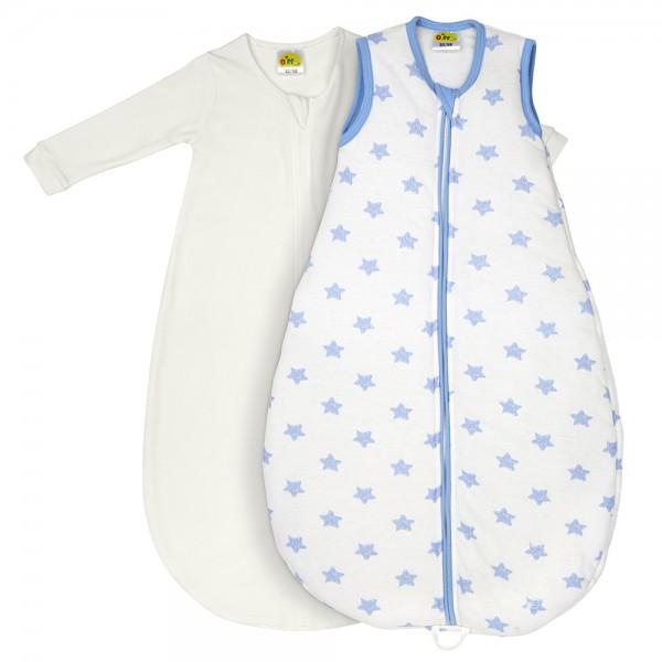 Dimotex Schlafsack 2tlg. Sterne blau