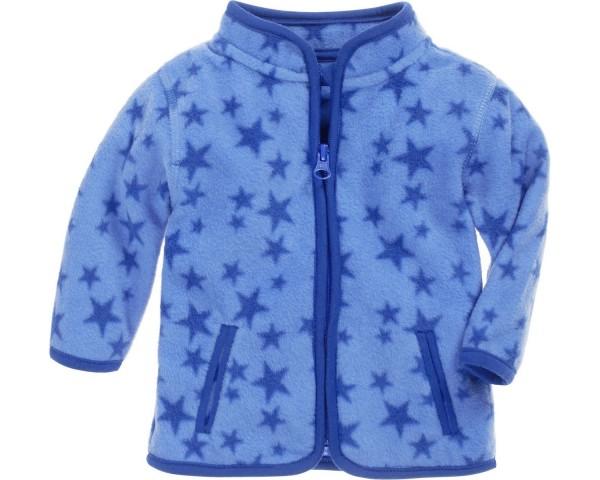 Schnizler Fleece-Jacke Sterne blau