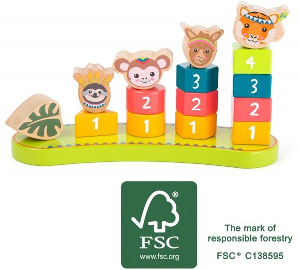 small foot Steckspiel mit Zahlen