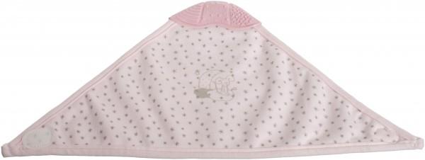 bieco Dreieckslätzchen mit Beißecke rosa