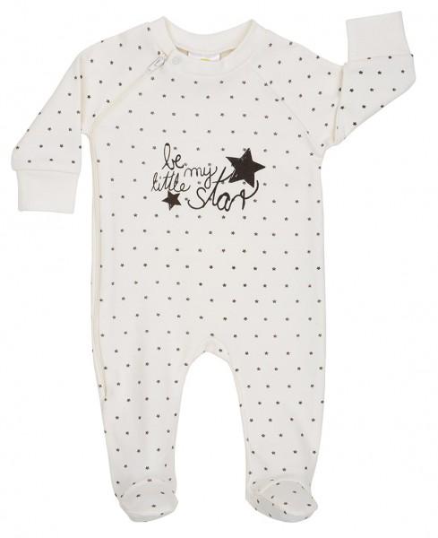 DimOrganic Schlafanzug mit Fuß Stars