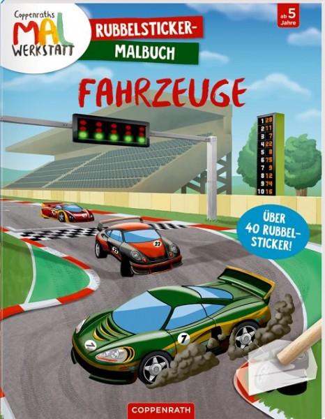 Coppenrath Rubbelsticker Malbuch Fahrzeuge