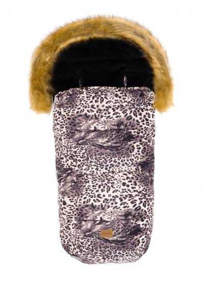 "fillikid Winterfußsack melange Print ""Leopard"""