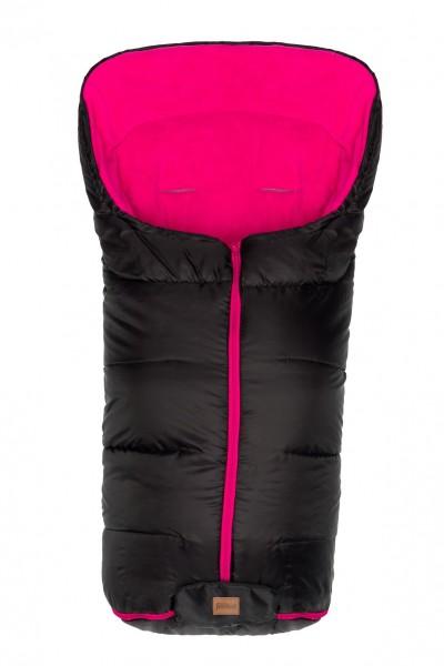 fillikid Winterfußsack schwarz/pink