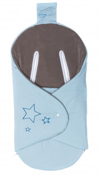fillikid Einschlagdecke hellblau uni Stern