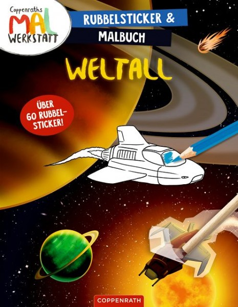 Coppenrath Rubbelsticker Malbuch Weltall