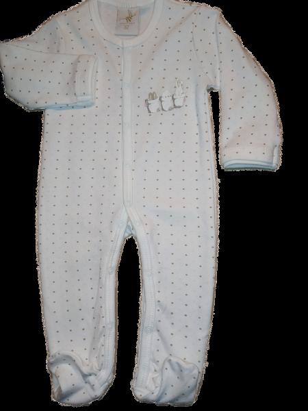 DimOrganic Schlafanzug mit Punkten